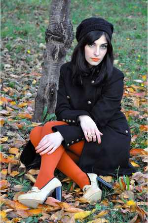 Primark tights - Fiona C coat - Accessorize hat - Primark heels