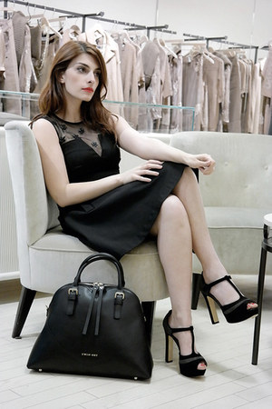 black twin-set by Simona barbieri dress - black twin-set by Simona barbieri bag
