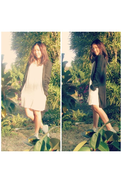 tuxedo jacket Zara blazer - H&M dress - DIY accessories