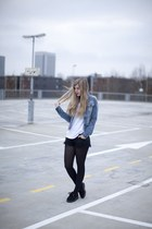 ramones jacket DIY jacket - black creepers udnerground flats