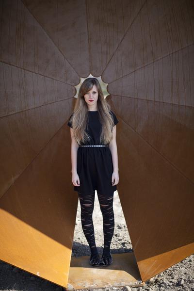 black dress asos dress