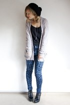 leopard blue Motel Rocks pants - creepers Jeffrey Campbell heels