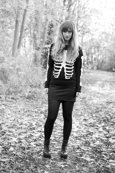 ribs jumper asos sweater - platform Hellz Bellz boots