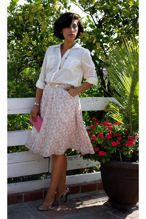 light pink eShakti skirt - cream MINE blouse