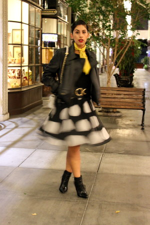 black ALTUZARRA boots - black Tommy Hilfiger shirt - black Kenar skirt