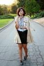 Beige-forever-21-coat-light-blue-burbe-scarf-black-target-skirt