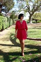 brown sam edelman wedges - hot pink Lovely Day dress