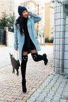 asos bag - Zara dress - Stradivarius coat - Choies tights