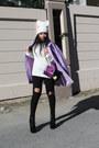 Light-purple-sheinsidecom-coat-black-choies-jeans-white-zara-hat