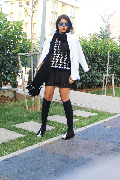 Zara coat - Zara Kids dress - Zara sweater - Zara bag
