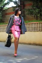 hm sweater - pelininayakkabıları shoes - Zara bag - Topshop skirt
