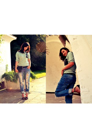 Sisley jeans - Vero Moda blouse - Melissa sandals