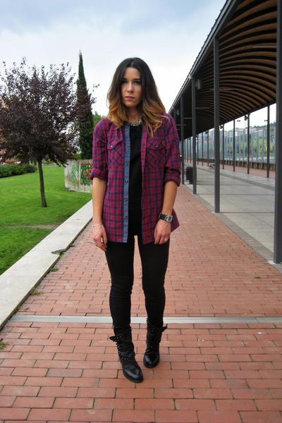 New Yorker shirt - Zara boots