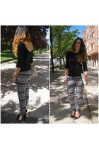 Zara bag - Zara t-shirt - Stradivarius pants - Zara heels
