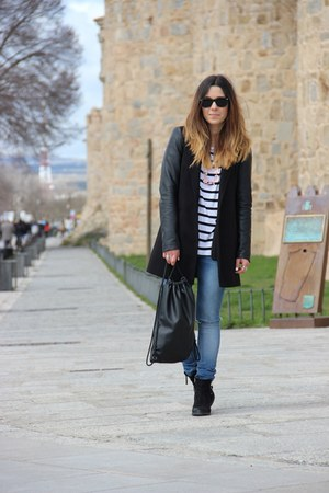 Topshop boots - Pull & Bear bag - Zara vest