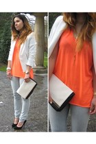 Zara blazer - Lefties bag - Zara t-shirt