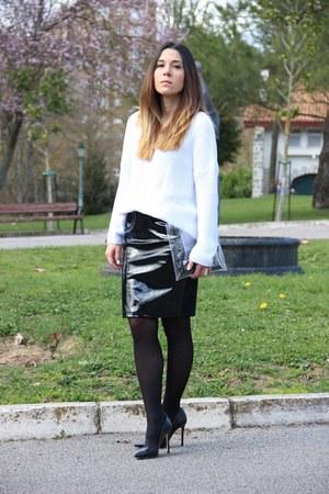 H&M skirt - Bershka bag - Zara heels