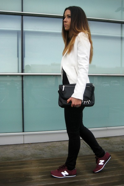 Zara blazer - Zara bag - New Balance sneakers