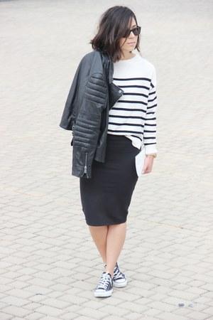Mango jacket - Mango sweater - Zara skirt