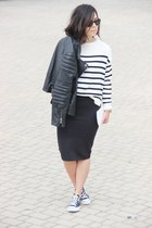 Mango jacket - Mango sweater - Zara skirt