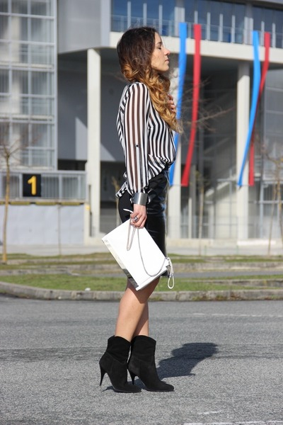 Primark shirt - Zara bag - H&M skirt