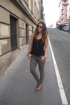 H&M wedges - Primark jeans - H&M t-shirt