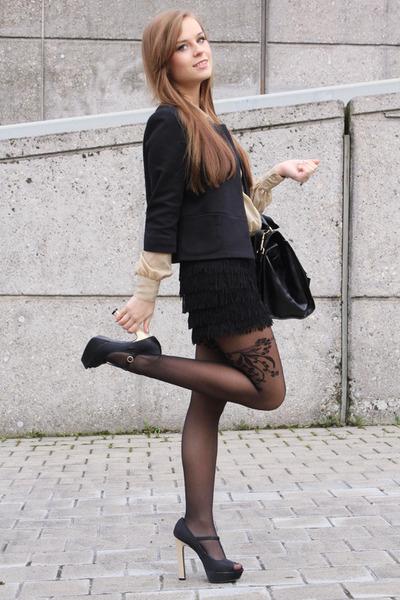 new look heels - fake leather OASAP bag - Monki blouse