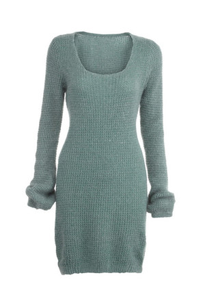 green jumper romwe jumper