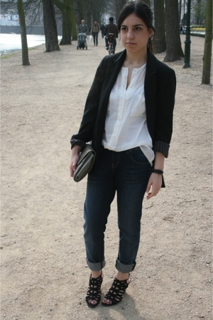 H&M blazer - Zara blouse - Zara jeans - Zara shoes - Zara purse