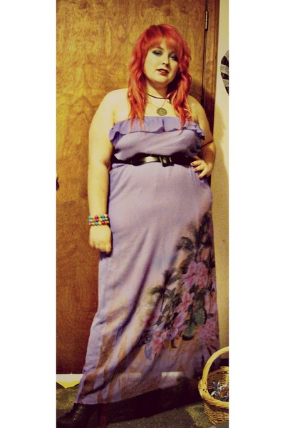 light purple maxi dress dress - black lita Jeffrey Campbell shoes - black belt