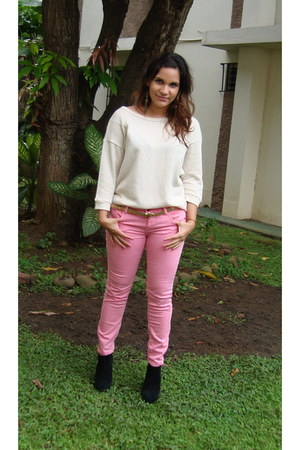 bubble gum Zara pants