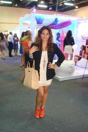 H&M dress - thrifted banana republic blazer - Furla bag - Zara heels
