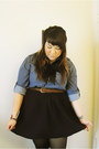 Menswear-h-m-blouse-handmade-skirt-vintage-belt-handmade-tie
