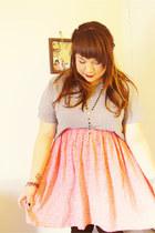 red -skirt H&M dress - silver basic mens H&M shirt