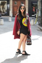 Sheinside coat - Choies boots - Zara skirt