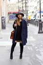 Black-tamaris-boots-charcoal-gray-bailey-hat-navy-coat-the-korner-jacket