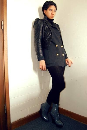 vintage from Ebay jacket - Ralph Lauren sweater - Stella McCartney boots