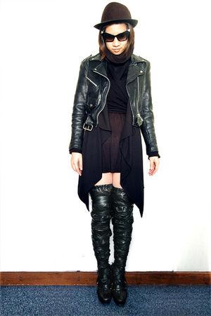 black vintage jacket - black Nicholas Kirkwood for Rodarte boots
