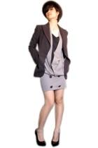 Zara blazer - vintage dress - Bebe shoes