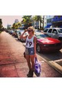 Lf-shoes-blonds-topshop-shorts-rayban-sunglasses-wildfox-top