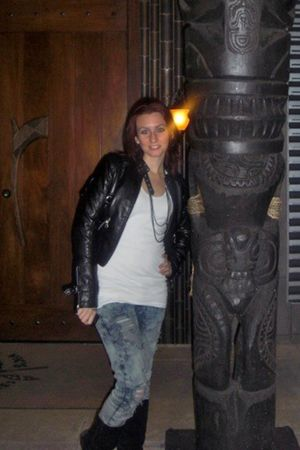 black Forever 21 jacket - white Forever 21 top - blue Wet Seal jeans - black all