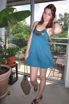 blue Wet Seal dress - brown Target purse - brown predictions shoes - beige Targe