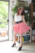 pink Mossimo skirt - white Mossimo top - black Forever 21 belt - silver Forever
