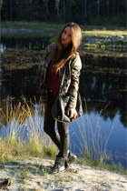 new look jacket - Zara boots - H&M jumper
