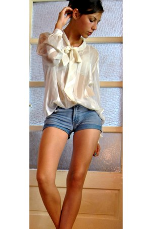 white shirt - sky blue Only shorts