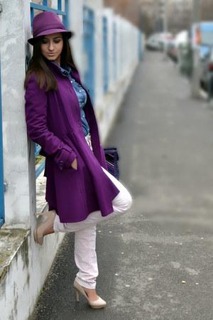 asos coat - Lee jeans - Miss Sixty bag - Bershka heels