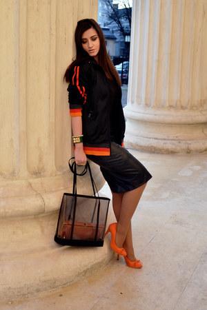 Accessorize bag - Lee Cooper jacket - Zara skirt