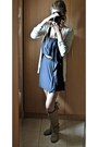 Tan-local-store-boots-navy-bershka-dress-tan-bershka-cardigan