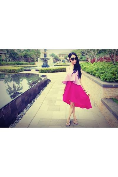 hot pink Forever21 dress - bubble gum Forever21 dress