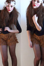 Dark-brown-mango-tights-brown-zara-skirt-black-h-m-cardigan-beige-new-york